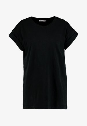 ALVA PLAIN TEE - T-shirts - black