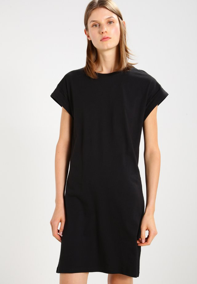 ALVIDERA ADDI PLAIN DRESS - Jerseyjurk - black