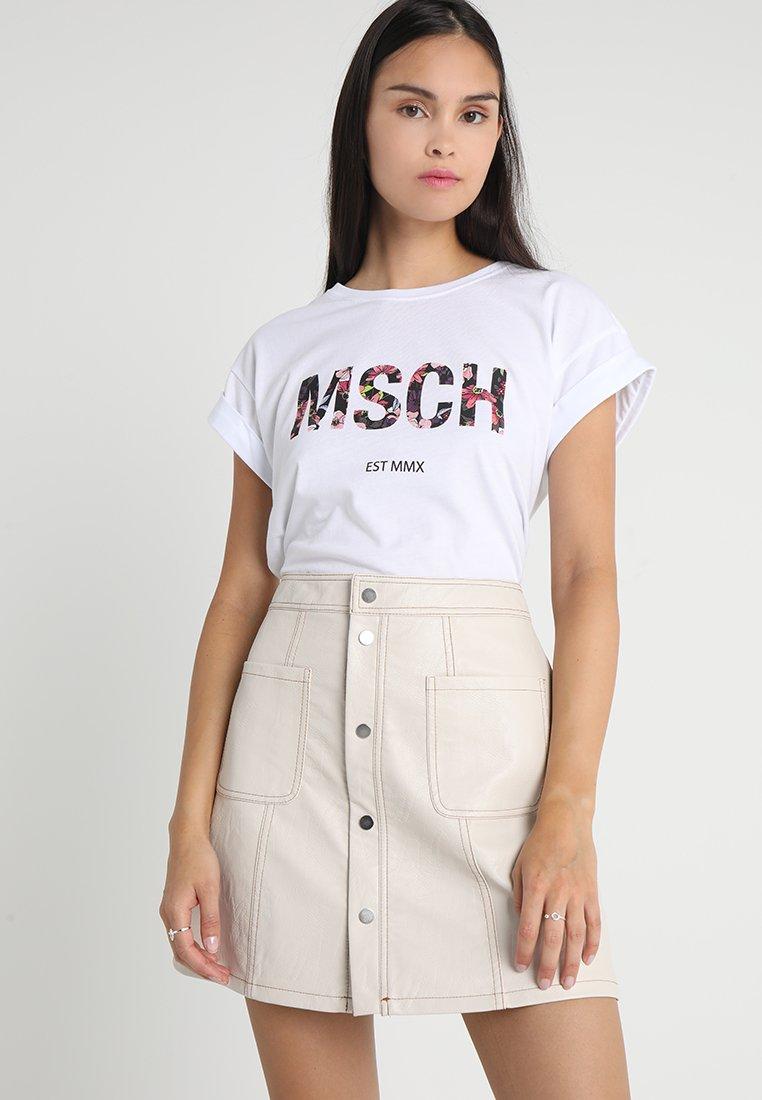 Moss Copenhagen - ALVA EST TEE - T-Shirt print - white/multi
