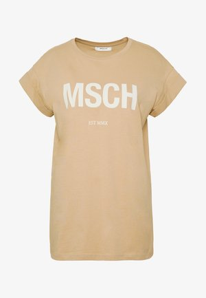 ALVA TEE - T-shirt print - sand/egret