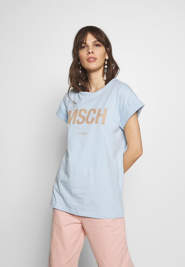 ALVA TEE - T-Shirt print - blue/nougat