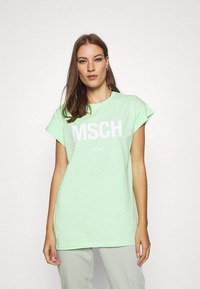 ALVA TEE - T-Shirt print - green/white