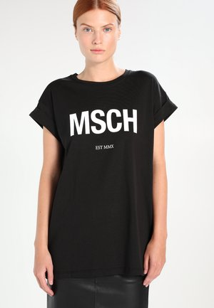 ALVA TEE - T-shirts med print - black/white