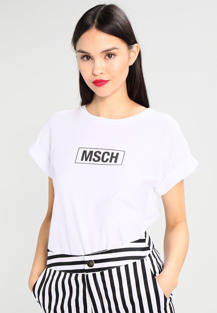 Moss Copenhagen - ALVA LOGO TEE - T-Shirt print - optical white/black