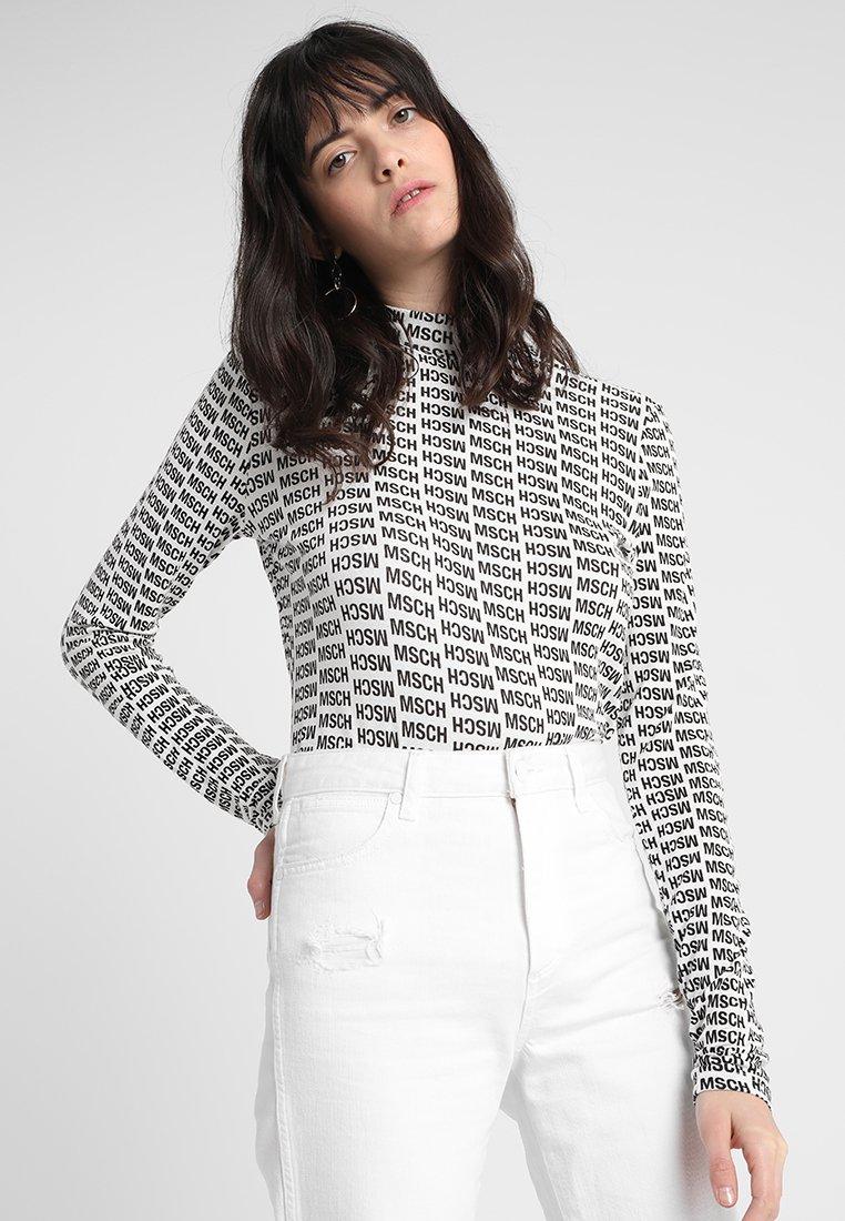Moss Copenhagen - TIPPI TEE - Langarmshirt - white/black