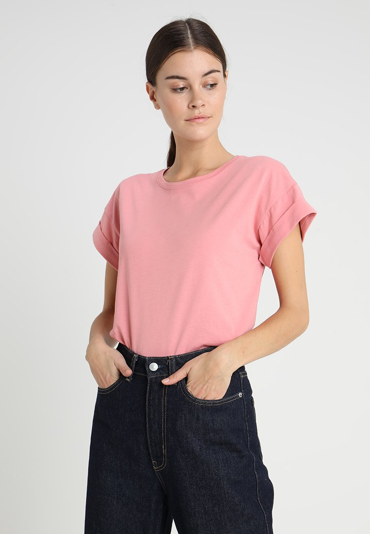 Moss Copenhagen - ALVA TEE - T-shirts - brandied apricot