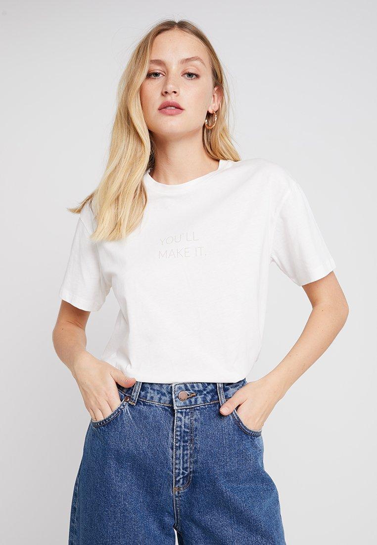 Moss Copenhagen - DIDA PRINT TEE - T-Shirt print - ice
