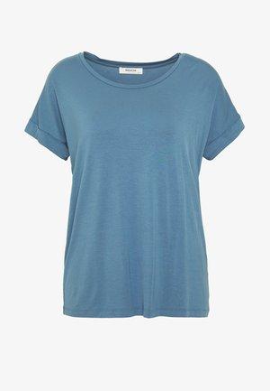 ANIKA FOLD UP TEE - T-shirts - blue horizon
