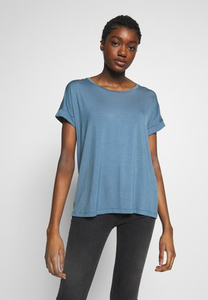 ANIKA FOLD UP TEE - Basic T-shirt - blue horizon