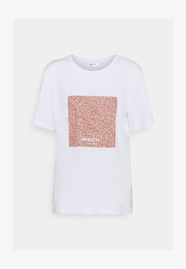 ALVA PRINT TEE - Print T-shirt - white/rose