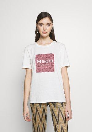 ALVA PRINT TEE - T-shirt print - egret/apple