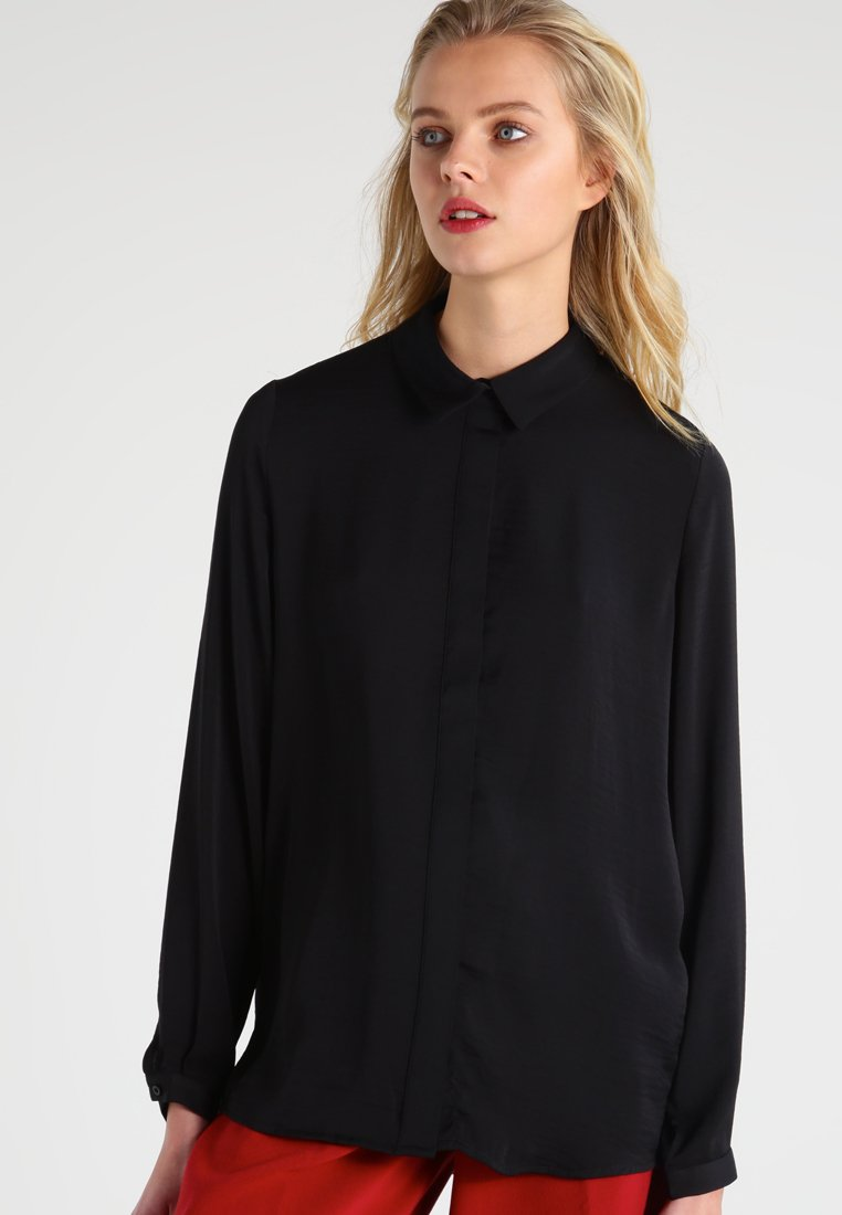 Moss Copenhagen - BLAIR - Button-down blouse - black