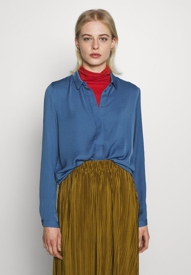 SEASONAL BLOUSE - Button-down blouse - blue horizon