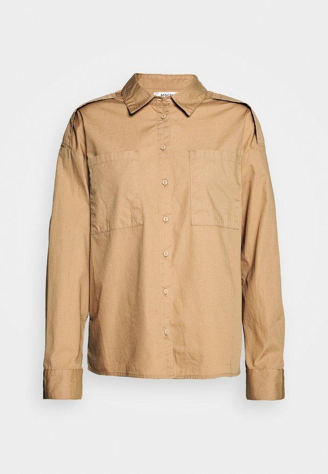 TAYLOR - Button-down blouse - nougat
