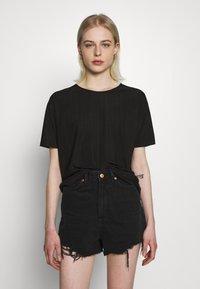 Moss Copenhagen - LINA TOP - T-shirts - black - 0
