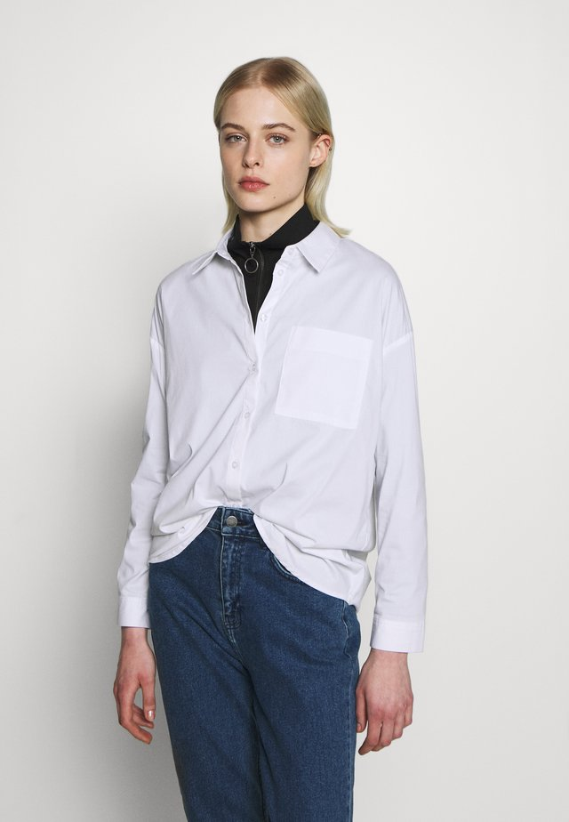 ODINE AVA - Button-down blouse - white