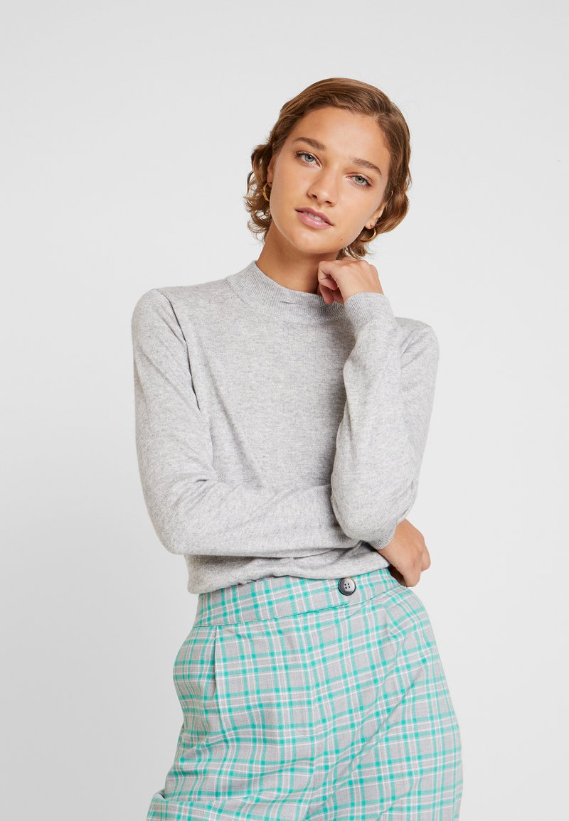 Moss Copenhagen - JAZEE - Strikpullover /Striktrøjer - mottled light grey