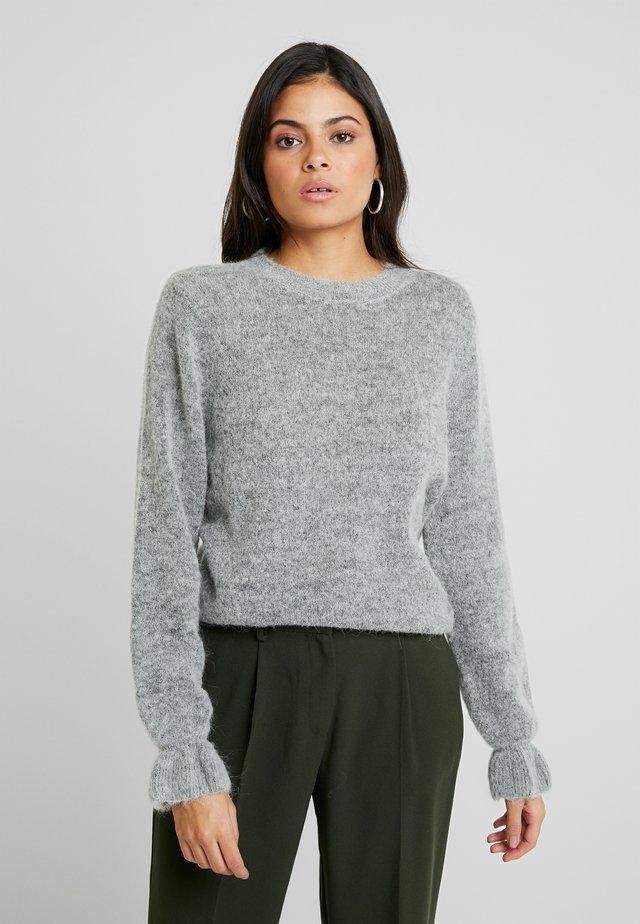 GISELLE - Stickad tröja - mid grey mel