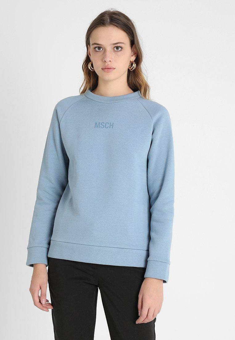 Moss Copenhagen - CINANA THA MINI LOGO - Sweatshirt - faded denim
