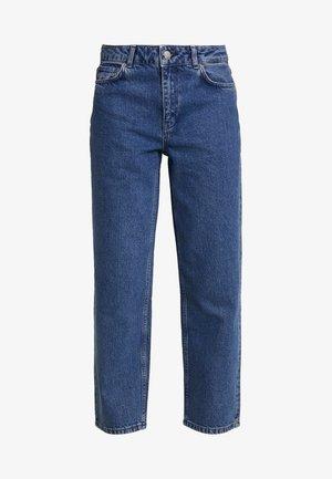 CRYSTAL - Džíny Straight Fit - mid blue wash