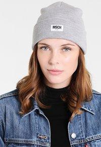 Moss Copenhagen - MOJO BEANIE - Pipo - light grey melange - 1