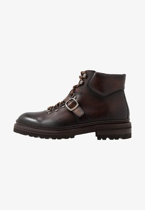 Lace-up ankle boots - manchester bolchester marron