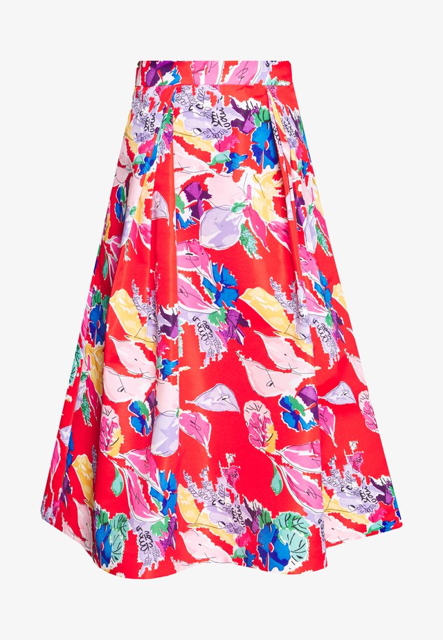 BOUQUET FAILLE KATIE SKIRT - Áčková sukně - red/multi