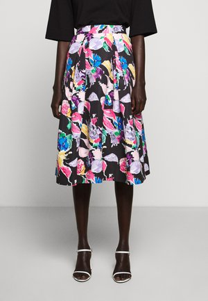 BOUQUET FAILLE KATIE SKIRT - Falda acampanada - black/multi
