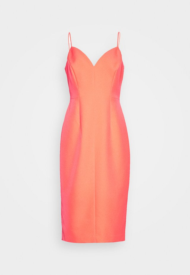 CADY SANDRA MIDI DRESS - Fodralklänning - grapefruit