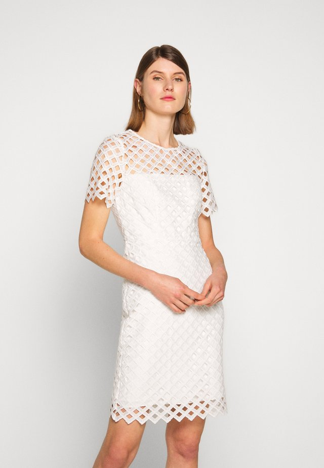 ANGELA DRESS - Shift dress - white