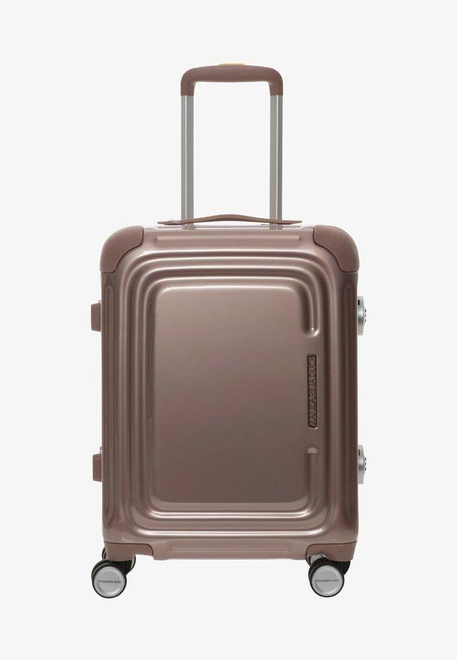 Wheeled suitcase - rose metal