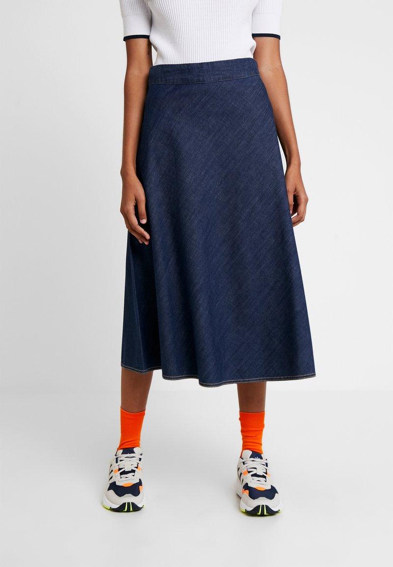 Mads Nørgaard - SOFT STELLY - A-line skirt - dark blue denim