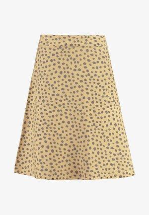 FRESH PRINT STELLY - A-snit nederdel/ A-formede nederdele - beige/navy