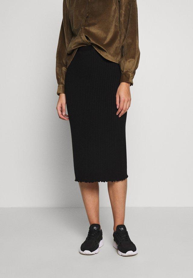 SUZETTA - Pencil skirt - black