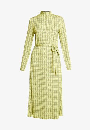 PRINTED STRETCH DINNE - Jerseykleid - bright lime