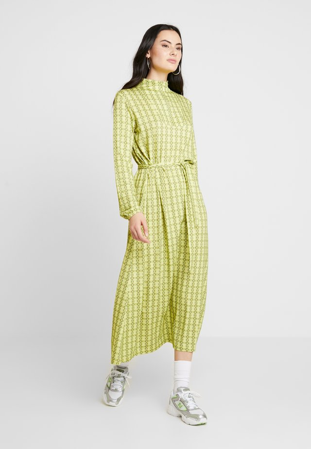 PRINTED STRETCH DINNE - Jerseykjole - bright lime