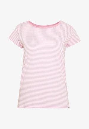 ORGANIC FAVORITE TEASY - T-shirts med print - white/rose