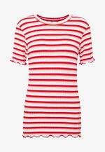 STRIPY TUBA FRILL - Print T-shirt - red/multi