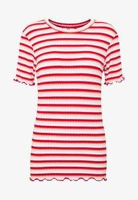 Mads Nørgaard - STRIPY TUBA FRILL - Print T-shirt - red/multi - 4
