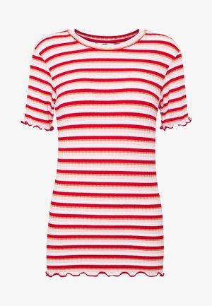 STRIPY TUBA FRILL - Camiseta estampada - red/multi
