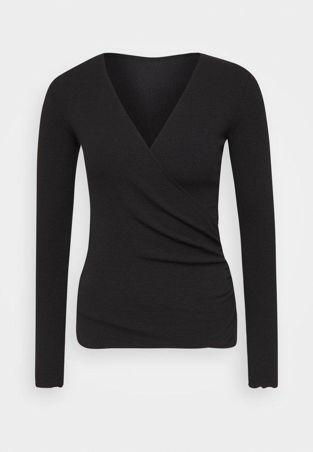 TAMOLLY - Long sleeved top - black
