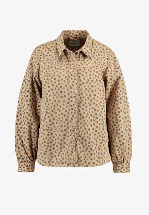 FRESH PRINT SORA - Veste en jean - beige/navy