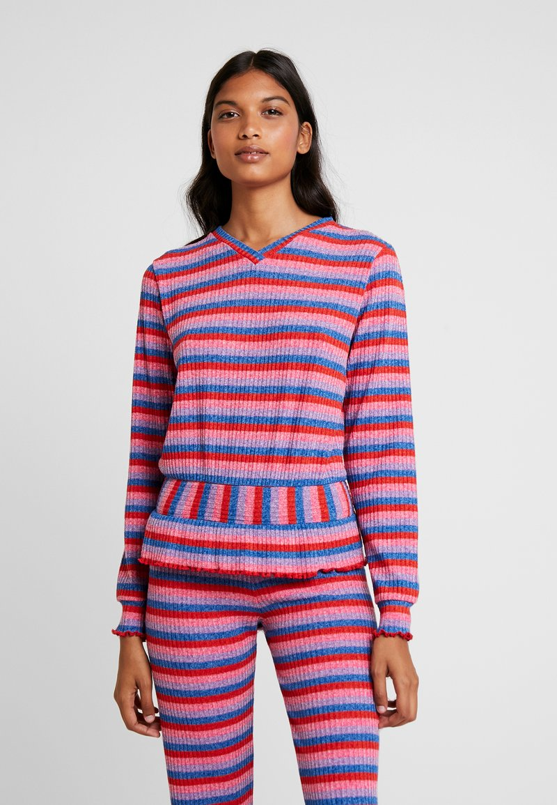 Mads Nørgaard - SUPER STRIPE BEAUTINA - Jumper - multi red