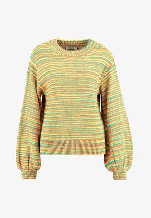 SIGNAL KOLLY - Stickad tröja - multi/neon green