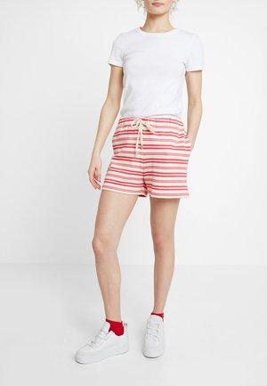 PRIX - Shorts - ecru/dark pink