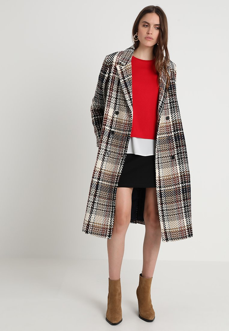 Mads Nørgaard - PLAY CHECK COAT - Classic coat - brown/yellow