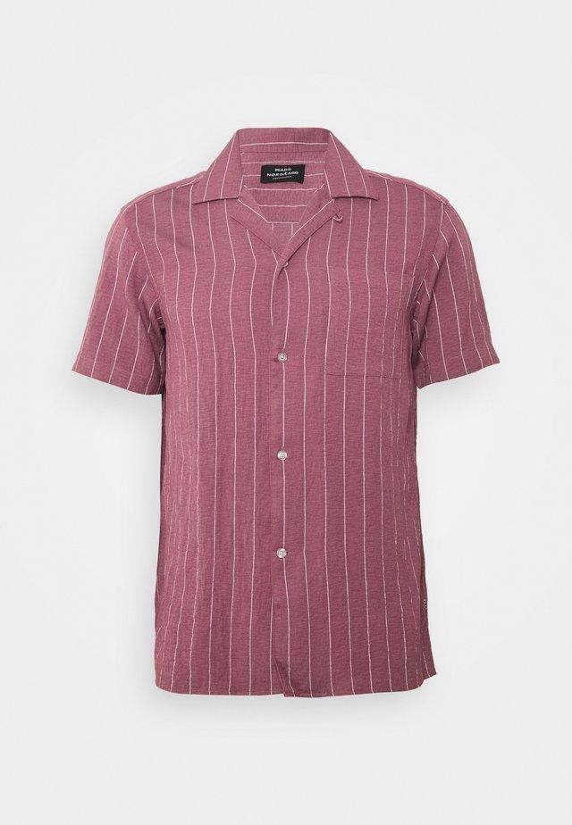 DRAPY STRIPE SHIRT - Košile - dark red