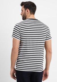 Mads Nørgaard - MIDI THOR - T-shirts print - charcoal melange/white - 2