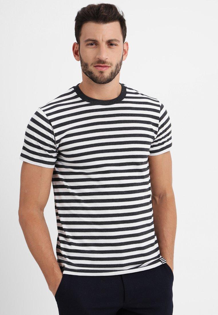 Mads Nørgaard - MIDI THOR - T-shirts print - charcoal melange/white