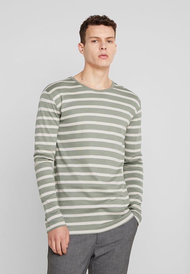 TRIO RIB TOBIAS LONG - T-shirt à manches longues - sea spray/silver